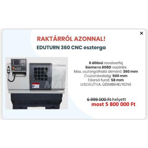 Eduturn 360 CNC eszterga SINUMERIK 808D vezérléssel